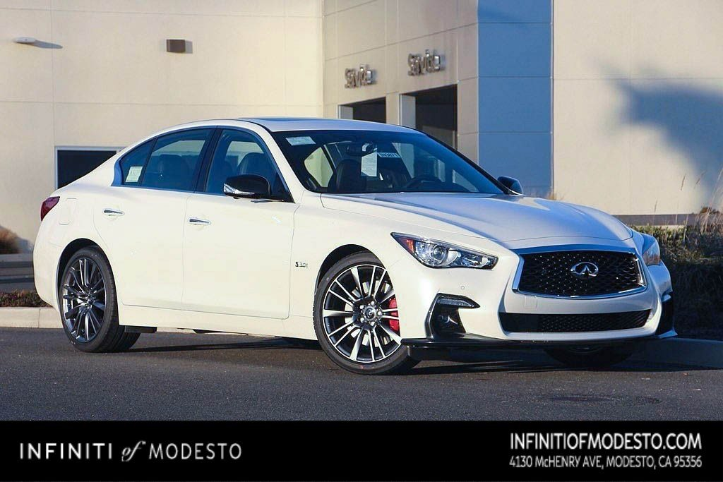 <center>NEW<br>2019 INFINITI Q50<br>3.0t RED SPORT 400<br>WITH SENSORY</center>